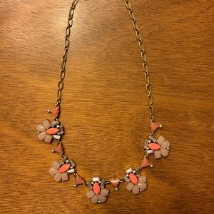 J. Crew Pink & Gold Statement Necklace
